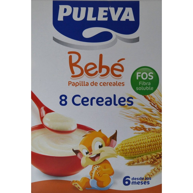 Papilla 8 cereales desde 6 meses 600 g puleva farmacia - Cereales bebe 5 meses ...