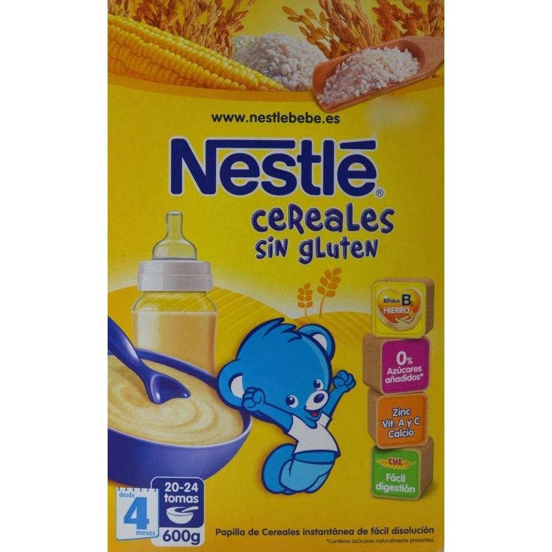 Papilla de cereales sin gluten desde 4 meses 600 g nestl - Cereales bebe 5 meses ...