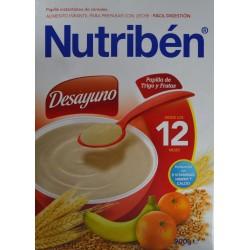 PAPILLA DE TRIGO Y FRUTAS DESAYUNO 900 G (2 X 450 G) DESDE LOS 12 MESES NUTRIBÉN