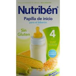 PAPILLA DE INICIO PARA EL BIBERÓN 600 G (2 X 300 G) DESDE LOS 4 MESES SIN GLUTEN NUTRIBÉN