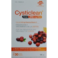 CYSTICLEAN FORTE 240 MG PAC 30 SOBRES VITA GREEN