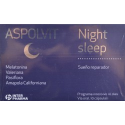 ASPOLVIT NIGHT SLEEP DOBLE ACCIÓN 15 CÁPSULAS INTERPHARMA