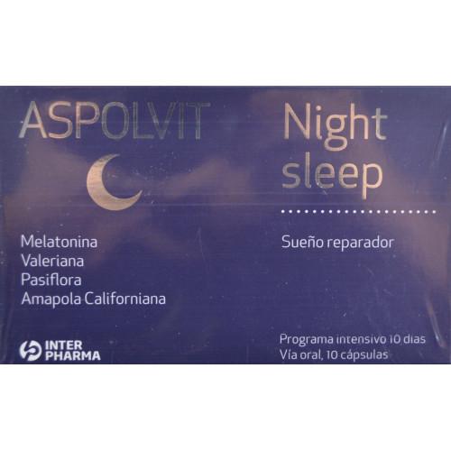 ASPOLVIT NIGHT SLEEP DOBLE ACCIÓN 15 CÁPSULAS INTERPHARMA