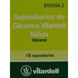 SUPOSITORIOS DE GLICERINA NIÑOS VILARDELL