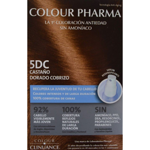 5 DC CASTAÑO DORADO COBRIZO COLORACIÓN ANTIEDAD COLOUR PHARMA