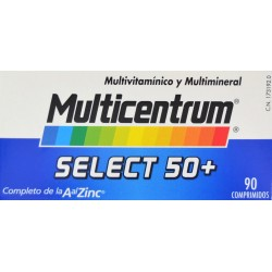 MULTICENTRUM SELECT 50+ 90 COMPRIMIDOS PFIZER