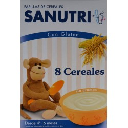 PAPILLA 8 CEREALES 600 G SANUTRI