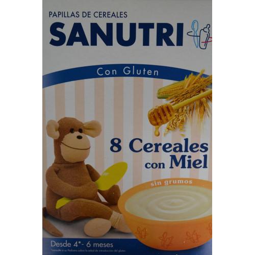 PAPILLA 8 CEREALES CON MIEL 600 G SANUTRI