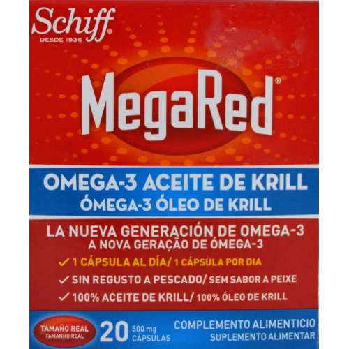MEGARED OMEGA 3 ACEITE DE KRILL 20 CÁPSULAS SCHIFF
