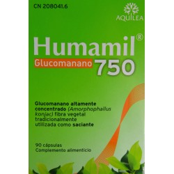 HUMAMIL GLUCOMANANO 750 90 CÁPSULAS AQUILEA