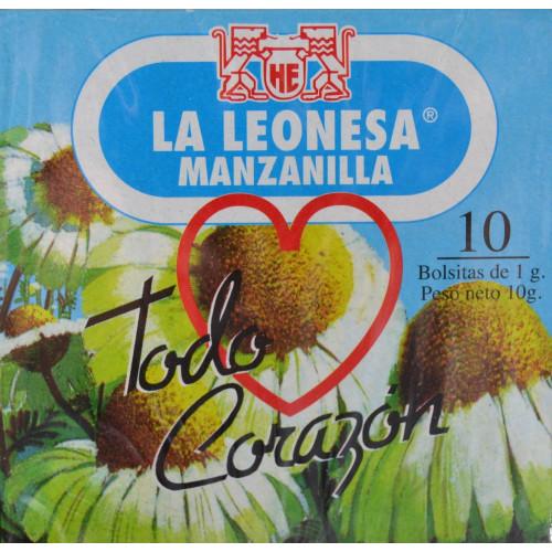 MANZANILLA 10 BOLSITAS LA LEONESA