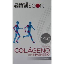 COLÁGENO CON MAGNESIO + VIT C 20 STICKS AMLSPORT