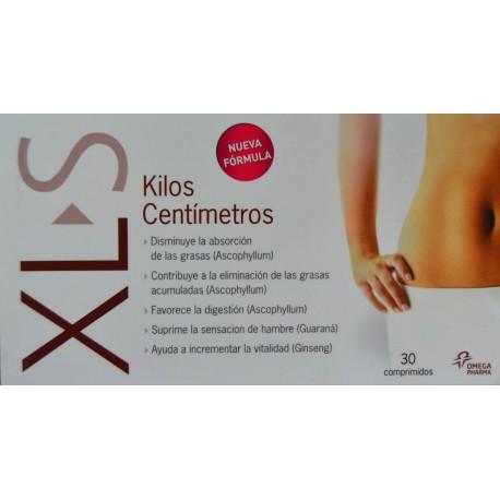 XL-S KILOS CENTÍMETROS 30 COMPRIMIDOS OMEGA PHARMA