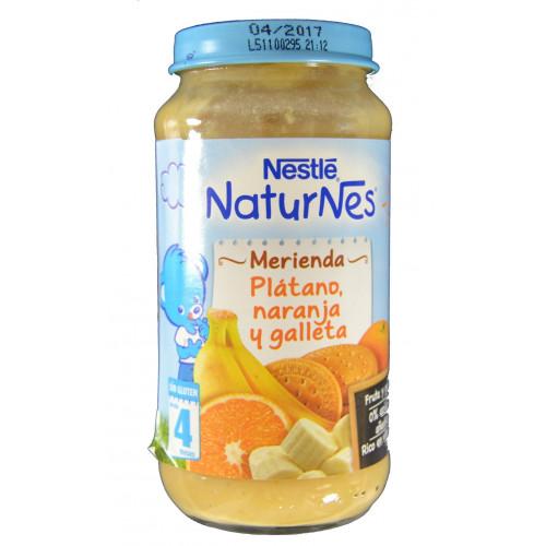 NATURNES MERIENDA PLÁTANO, NARANJA Y GALLETA 250 G NESTLÉ