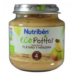 ECO POTITOS PLÁTANO Y MANZANA 130 G NUTRIBÉN