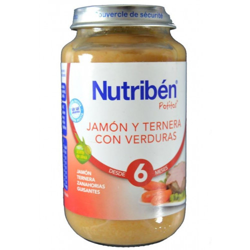 JAMÓN Y TERNERA CON VERDURAS 250 G NUTRIBÉN