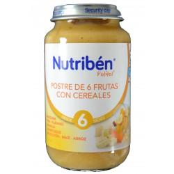 POSTRE DE 6 FRUTAS CON CEREALES 250 G NUTRIBÉN