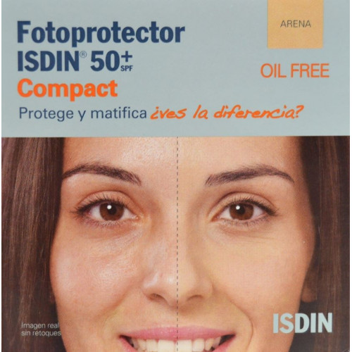FOTOPROTECTOR COMPACT ARENA OIL FREE SPF 50+ 10 G ISDIN