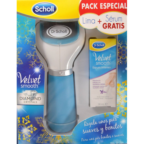 VELVET SMOOTH WITH DIAMOND CRYSTALS PACK ESPECIAL LIMA + SÉRUM SCHOLL