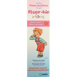 PASTA DENTÍFRICA INFANTIL SABOR FRESA 50 ML FLUOR · KIN