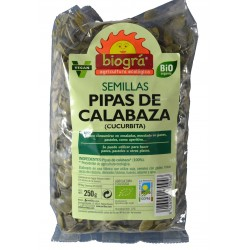 PIPAS DE CALABAZA 250 G BIOGRÁ