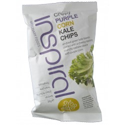 CRISPY PURPLE CORN KALE CHIPS 30 G INSPIRAL