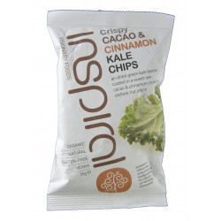 CRISPY CACAO & CINNAMON KALE CHIPS 30 G INSPIRAL