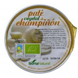 PATÉ VEGETAL DE CHAMPIÑÓN 50 G SORIA NATURAL