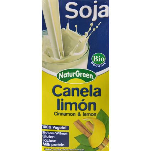 BEBIDA DE SOJA CANELA Y LIMÓN 1L NATURGREEN