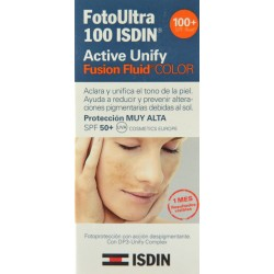 FOTOULTRA 100 ACTIVE UNIFY FUSION FLUID COLOR 50 ML ISDIN