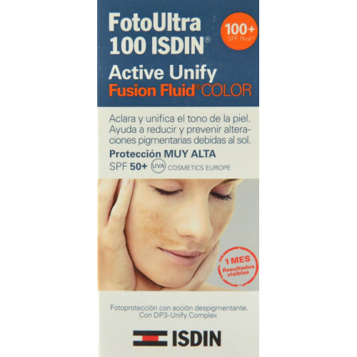 FOTOULTRA 100 ACTIVE UNIFY COLOR FUSION FLUID 50 SPF+ 50 ML ISDIN