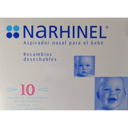 RECAMBIOS DESECHABLES ASPIRADOR NASAL PARA BEBÉ 10 U NARHINEL