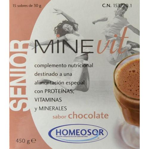 MINEVIT SENIOR SABOR CHOCOLATE 450 G HOMEOSOR