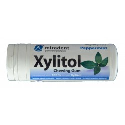 XYLITOL PEPPERMINT CHEWING GUM MIRADENT