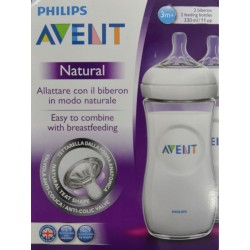 AVENT NATURAL 2 BIBERONES 330 ML PHILIPS