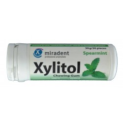 XYLITOL SPEARMINT CHEWING GUM MIRADENT