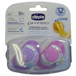 CHUPETES PHYSIO ACTIVE ORTHODONTIC 12 M+ CHICCO