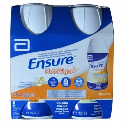 ENSURE NUTRIVIGOR VAINILLA 4 X 220 ML ABBOTT