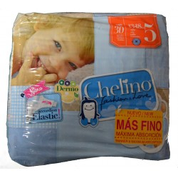 PAÑALES TALLA 5 DE 13 A 18 KG 30 UNIDADES CHELINO