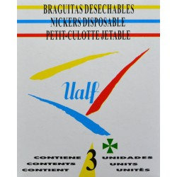 BRAGUITAS DESECHABLES 3 UNIDADES UALF