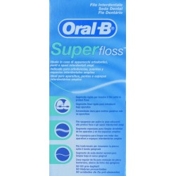 SUPERFLOSS SEDA DENTAL 50 HEBRAS PRECORTADAS ORAL-B