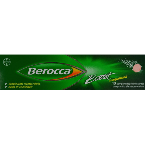 BEROCCA BOOST 15 COMPRIMIDOS EFERVESCENTES BAYER