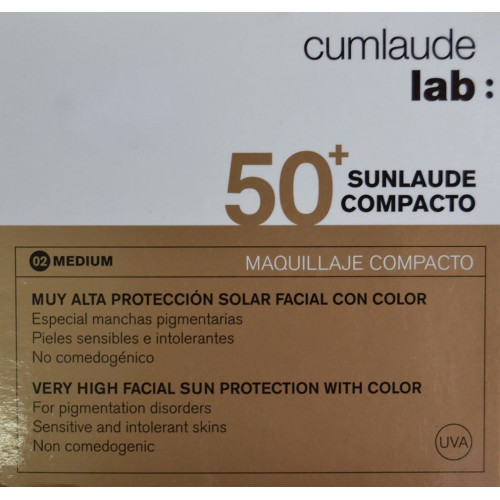 SUNLAUDE SPF 50+ COMPACTO 10 G CUMLAUDE LAB