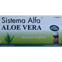SISTEMA ALFA ALOE VERA MÁXIMA FUERZA 20 VIALES BEBIBLES DE FÁCIL APERTURA