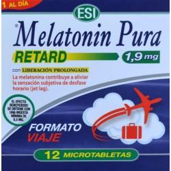 MELATONINA PURA RETARD 1,9 MG FORMATO VIAJE 12 MICROTABLETAS ESI