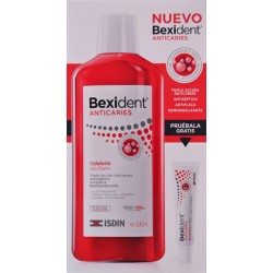BEXIDENT ANTICARIES COLUTORIO 500 ML + MUESTRA GRATUITA PASTA DENTÍFRICA 8 ML ISDIN