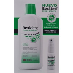 BEXIDENT FRESH BREATH COLUTORIO 500 ML + SPRAY 15 ML ISDIN