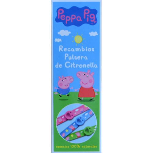 RECAMBIOS DE PULSERA DE CITRONELLA PEPPA PIG