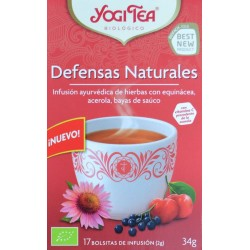 DEFENSAS NATURALES 17 BOLSITAS DE INFUSIÓN YOGI TEA