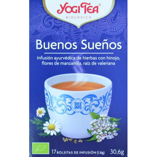 BUENOS SUEÑOS 17 BOLSITAS YOGI TEA